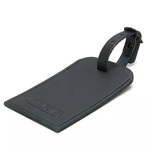 Authentic Rimowa Black Leather Luggage Tag